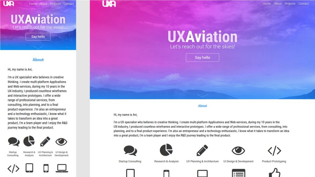 UXA Portfolio & Branding