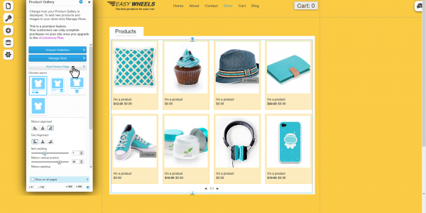 WIX Online Store (UX/UI)