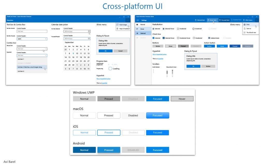 Cross-Platform UI Kit App Avi Barel