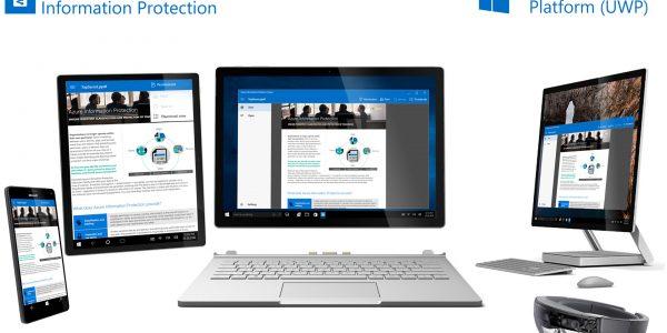 Microsoft AIP Cyber Security App UX design