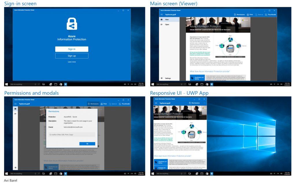 Windows 10 (UWP) App Avi Barel