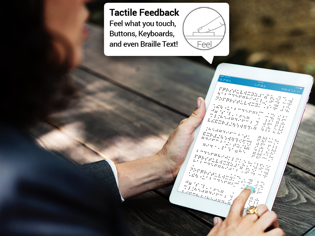 Blind people can use HS powered devices to read Braille text.  Tactile feedback is essential for kinesthetic learners.