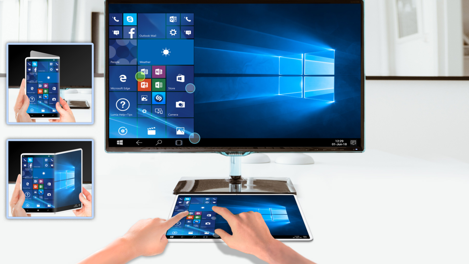 With HS tactile technology on Windows devices, you can mirror your device's screen and work from anywhere.